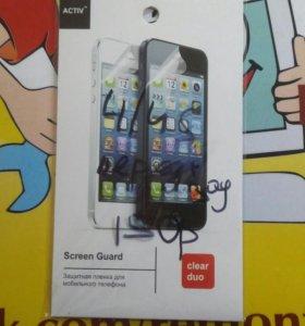 Защитная пленка прозрачная iphone 4/4s