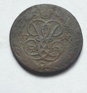 Копейка 1757г
