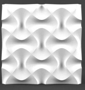 Гипсовые 3D панели (4 шт)