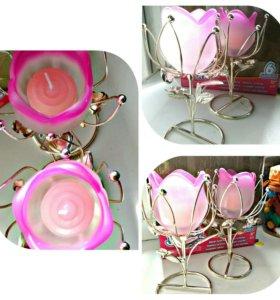 Подсвечники + свеча