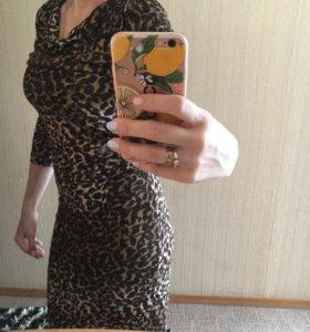 Леопардовое платье mango.