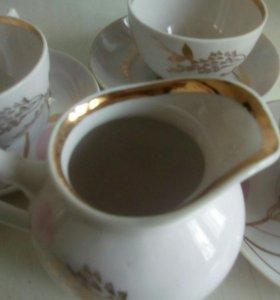 Чайные пары сервиза дулево
