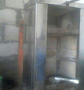 Печка для шаурмы на углях