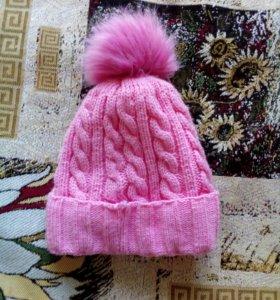 Женские шапки, шарф и перчатки
