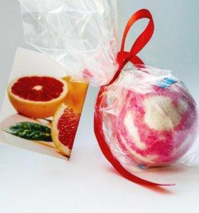 """Бомбочка для ванн """"Розовый грейпфрут"""""""