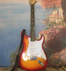 Электроакустическая гитара и комбоусилитель