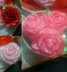 Заколки розы