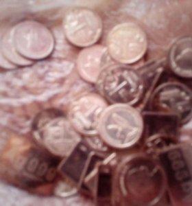 Серебренные житоны из водки