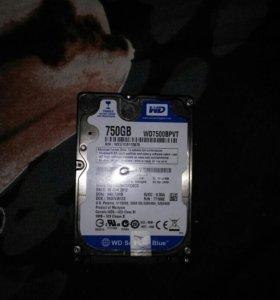 Жесткий диск для ноутбука 750gb