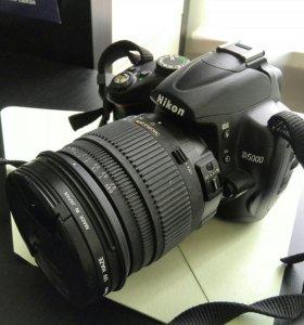 Зеркалка Nikon D5000 Sigma AF 17-70 f/2.8-4.5 допы