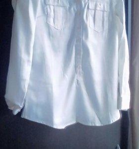 Блузка-рубашка белая (новая)