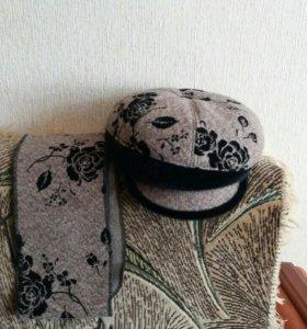 Зимний комплект: шапка+шарф