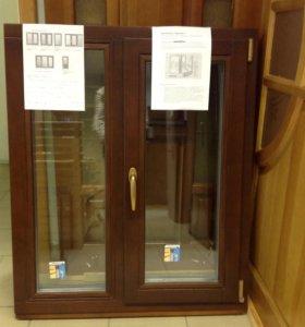 Окно деревянное со стеклопакетом