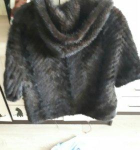 Вяаная норка куртка шуба