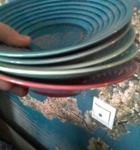 Тарелки. Разноцветные. 5 шт