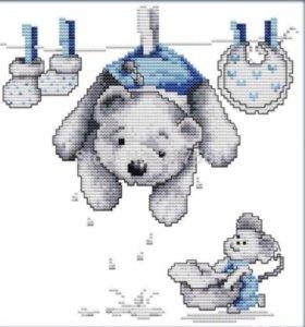 Набор для вышивания Медведь на сушке