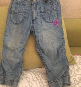 Продам джинсы/Капри д/д размер 122