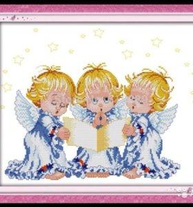Набор для вышивания Три ангелочка