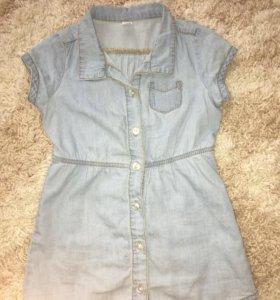 Джинсовое платье для девочки Gloria Jeans