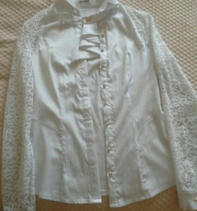 Блузка белая школьная XL