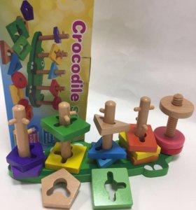 Логическая деревянная игрушка новая
