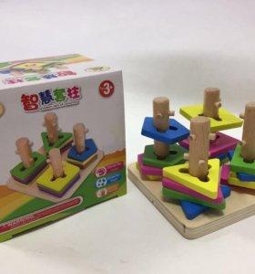 Логическая игрушка деревянная новая
