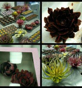 Шоколадный декор ручной работы