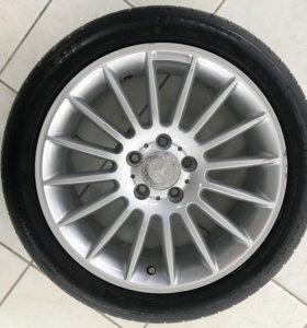 Колеса литые диски с летней резиной dunlop на CLA