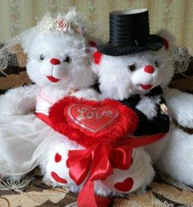 Свадебные игрушки мишки (свадебные аксессуары)
