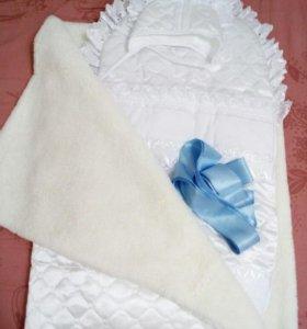 Конверт с одеялом на выписку универсальный!!