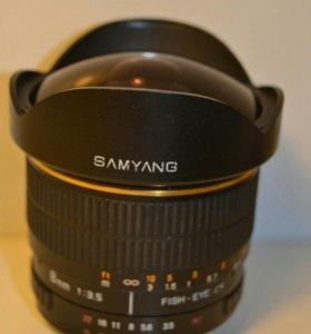 Samyang 8mm, Nikon F, FishEye объектив