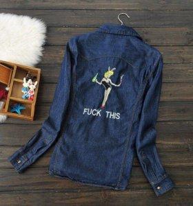 Рубашка джинсовая 44