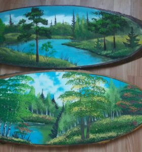 Картина на дереве