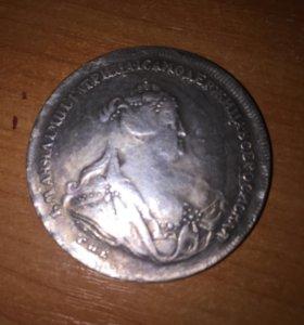 Монета Рубль 1739 года