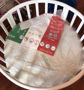 Новый матрас на круглую детскую кроватку