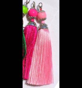 2 Розовые Серьги или подвески для брелка