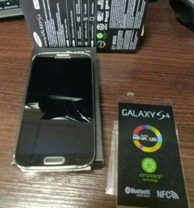 Samsung s4 DeepBlack gt-i9500 полный комплект.