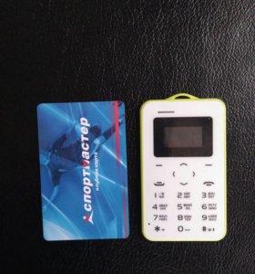 Aeku, Телефон кредитка, черный/белый