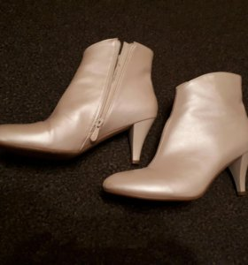Полусапожки ботинки свадебные айвори цвета