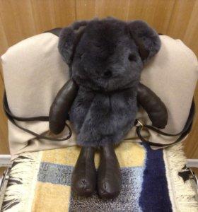 Рюкзак Мишка из натурального меха