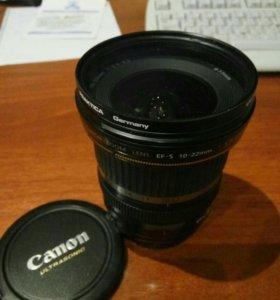 Canon ef-s 10-22 usm + uf фильтр
