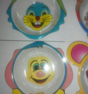 Детский тарелки