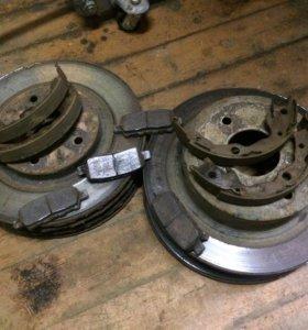 Комплект тормозных дисков перед зад. С колодками