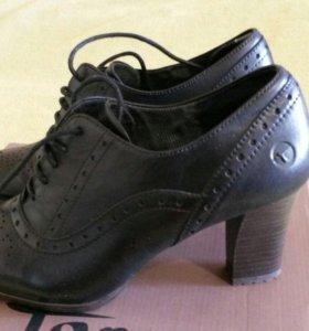 Туфли нат кожа, р37,5-38, новые