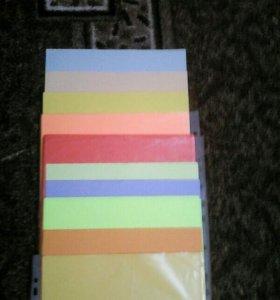 цветная бумага, пластилин, белый и цветной картон