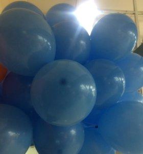 50шт гелиевых шаров