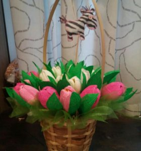 💐💐💐Корзина цветов из конфет