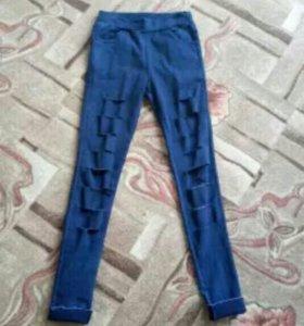 Леггинцы джинсовые