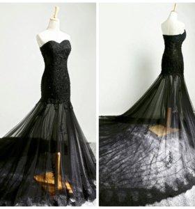 Платье вечернее вышивка кружево  socci