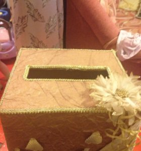 Коробочка для конвертиков от гостей на свадьбу